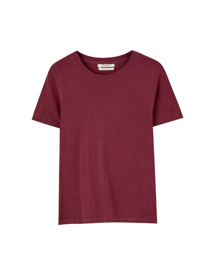 T-shirt de manga curta básica