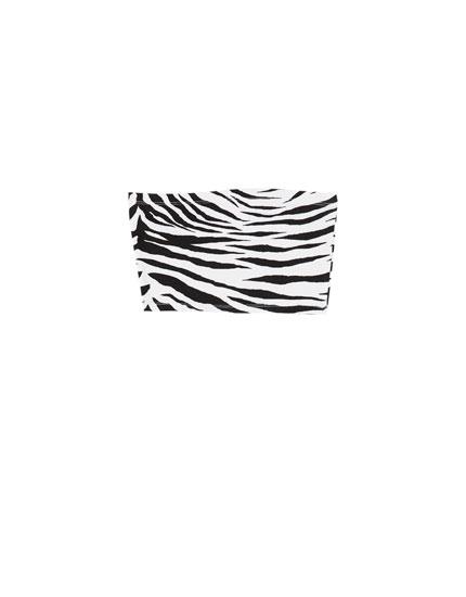 Bandeau-top med mønster