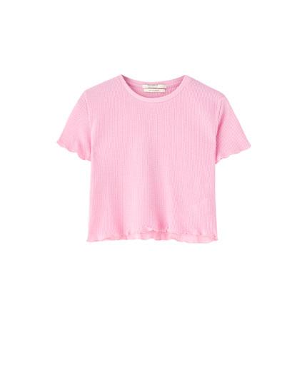 T-shirt basique tissu gaufré