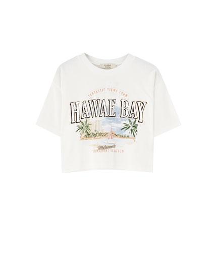 "Round neck ""Hawae Bay"" T-shirt"