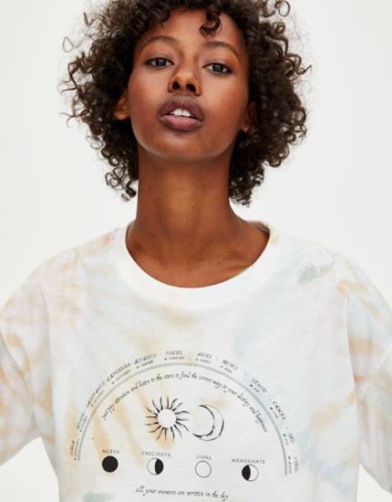 Tie-dye T-shirt astrologie