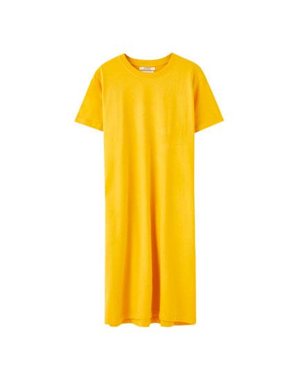 Robe midi coupe t-shirt