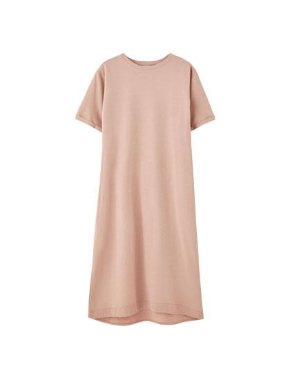 Φόρεμα μπλούζα με στρογγυλή λαιμόκοψη