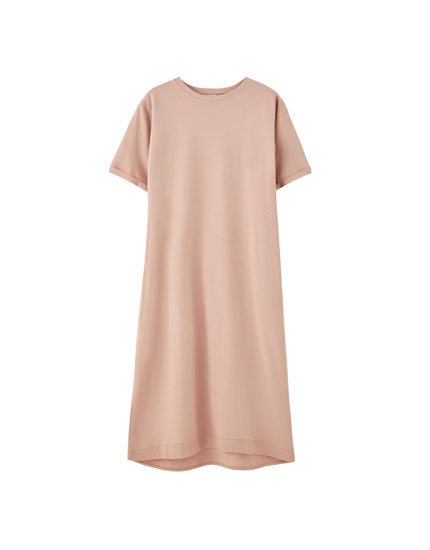 Round neck T-shirt dress