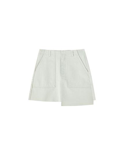 Minifalda vaquera corte asimétrico
