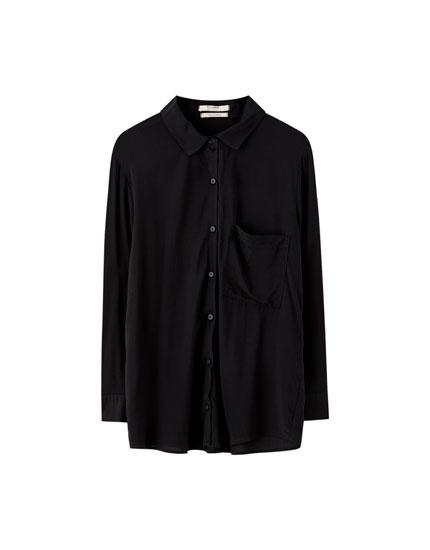 Camisa básica manga larga