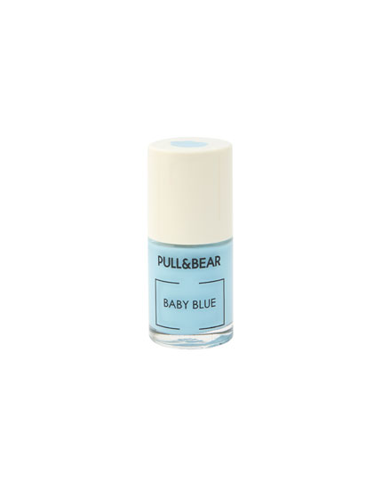 Baby Blue nail varnish