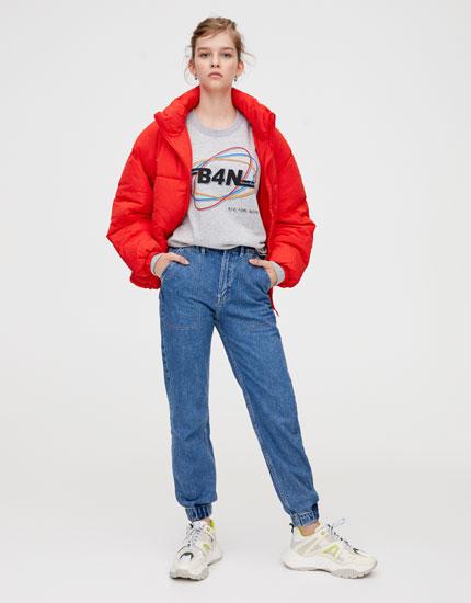 Front slogan sweatshirt
