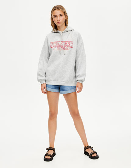 Netflix Stranger Things grey hoodie