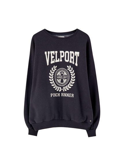 Sweatshirt with 'Velport' illustration