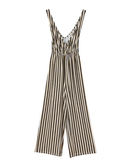 Strappy crossover jumpsuit
