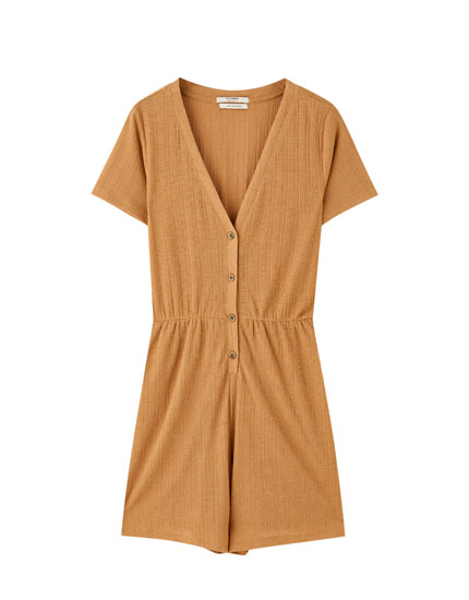 Playsuit with front buttons