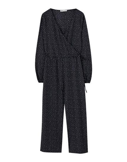 Wrap culotte jumpsuit