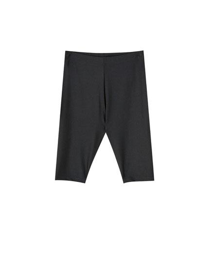 Μαύρο παντελόνι ποδηλασίας basic