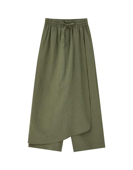 Saia-calção culottes