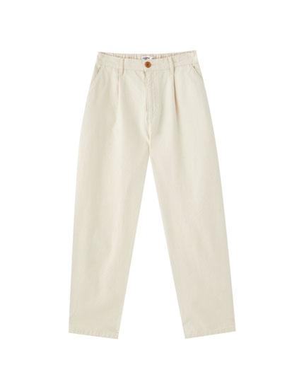 Denim chino trousers