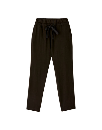 Rustic drawstring trousers