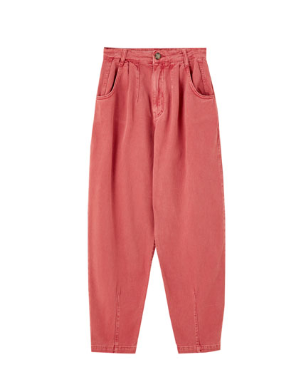 Darted slouchy trousers