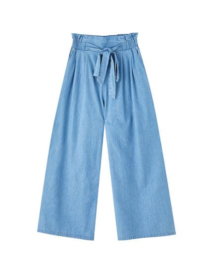 Flowing culotte jeans