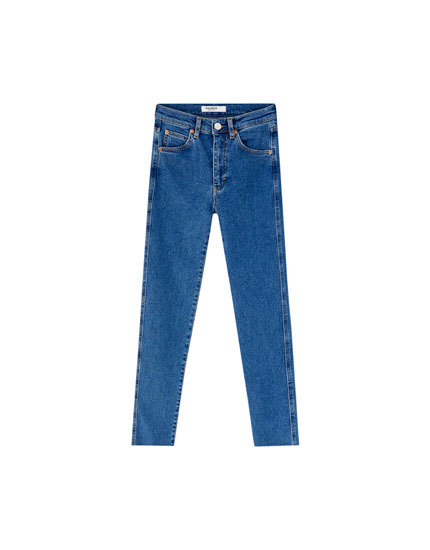 Jeans slim mom confort