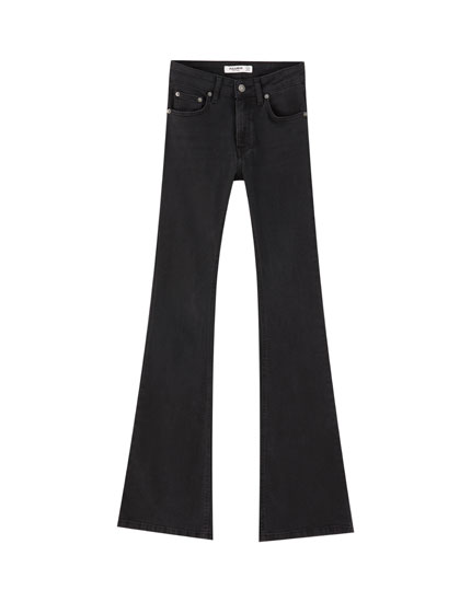 Jean flare taille moyenne