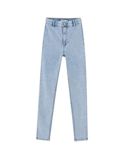 Τζιν ψηλόμεσο παντελόνι skinny fit