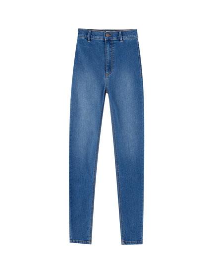 Jeansy skinny fit z wysokim stanem