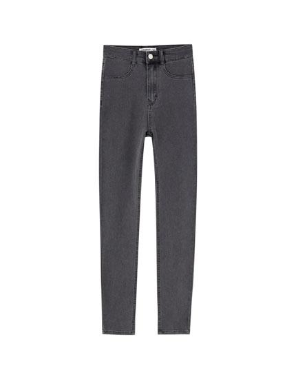 Skinny jeans met hoge taille