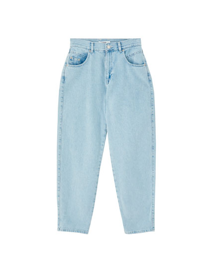 Gaucho jeans with pockets and yoke detail