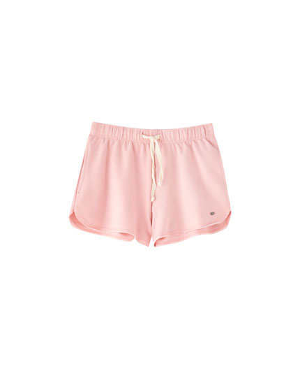 Shorts basic in felpa