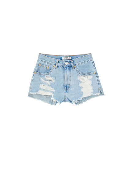 Shorts vaqueros rotos