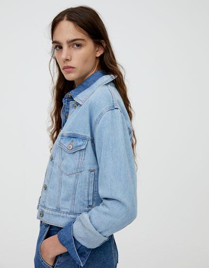 pull and bear veste jean femme