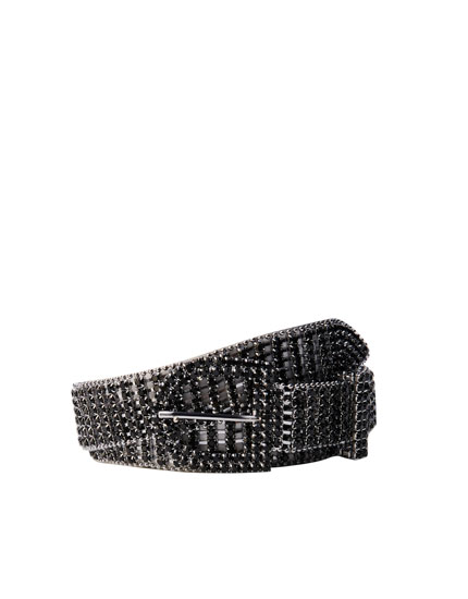Bejewelled black belt