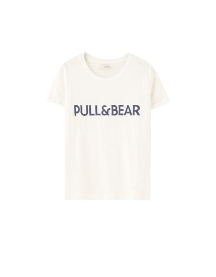 Basic Pull&Bear logo T-shirt