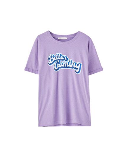 Camiseta oversize print
