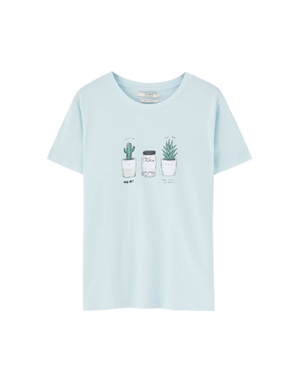 T-shirt with decorative illustration