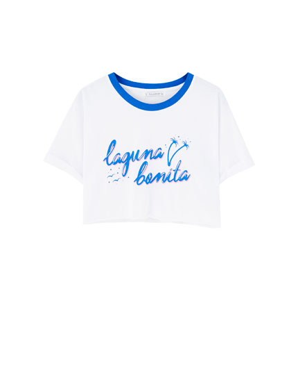 Camiseta cropped reb