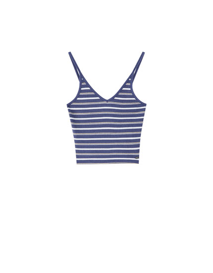 Striped top with straps