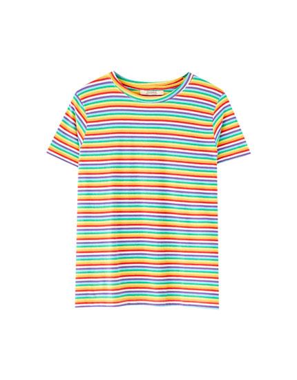 Camiseta estampada rayas