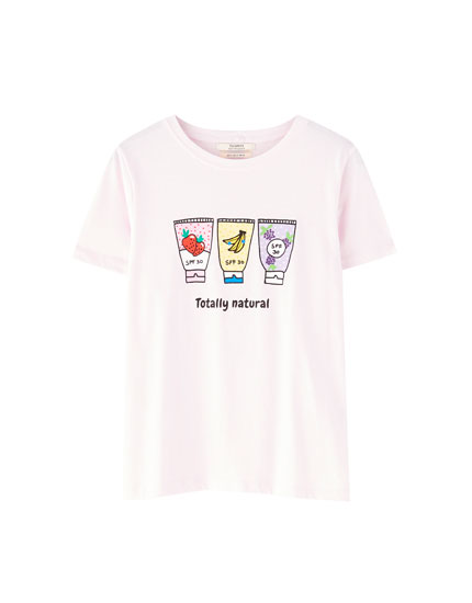 T-shirt with chest illustration