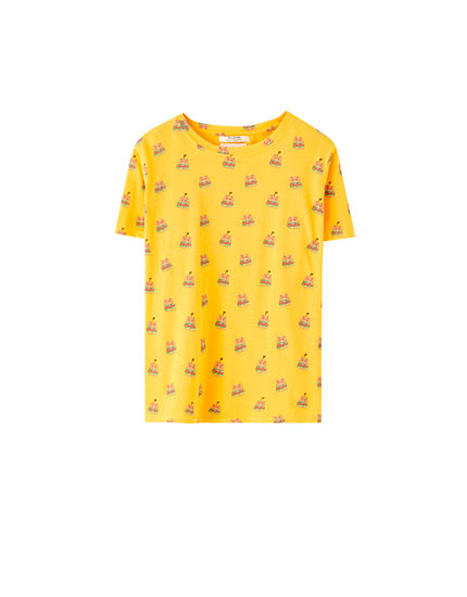 Small bear print T-shirt