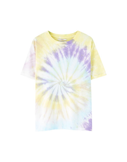 Tie-dye T-shirt in light colours