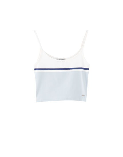 Tank top with a straight neckline