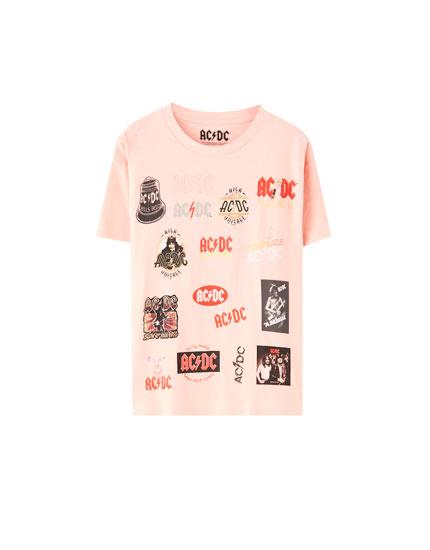AC/DC logos T-shirt