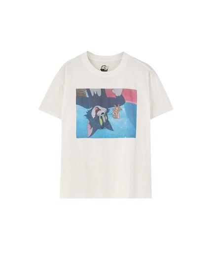 T-shirt med Tom og Jerry