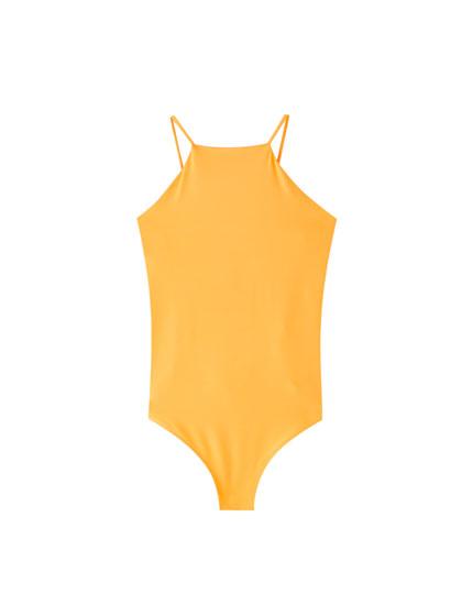 Neon halter bodysuit