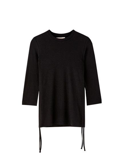 T-shirt met lange mouw en plooi