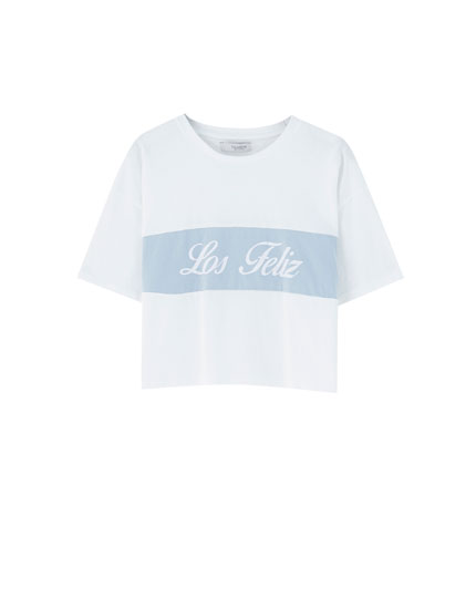 'Los Feliz' colour block T-shirt