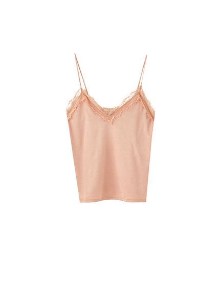 Basic strappy camisole top