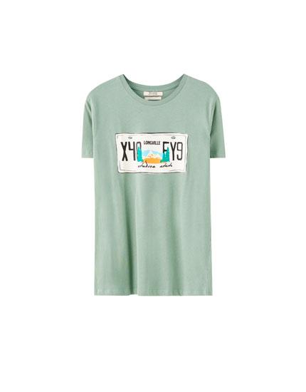 Camiseta ilustración matricula